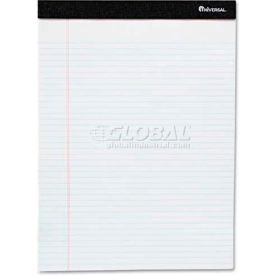 Universal One® Perforated Edge Ruled Writing Pads, Jr. Legal, 6/Pack, White
