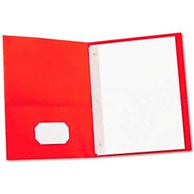 Universal Two-Pocket Portfolios w/Tang Fasteners, 11 x 8-1/2, Red, 25/Box