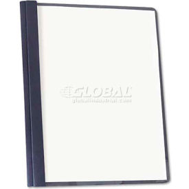 Universal Clear Front Report Cover, Tang Fasteners, Letter Size, Dark Blue, 25/Box