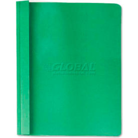 Universal Clear Front Report Cover, Tang Fasteners, Letter Size, Green, 25/Box