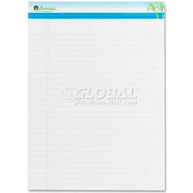 Universal One® Sugarcane Based Writing Pads, Wide, 11-3/4 x 8-1/2, White, 2 50-Sheet Pads/Pack