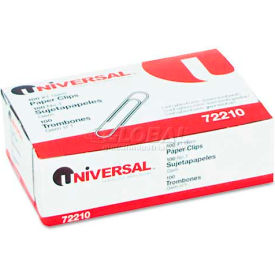 Universal® Paper Clips, Smooth Finish, No. 1, Silver, 100/Box