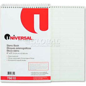 Universal® Steno Book, Pitman Rule, 6 x 9, Green, 60 Sheets/Pad