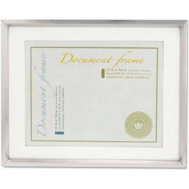 Universal Plastic Document Frame for 11 x 14 Insert w/Mat, Metallic Silver