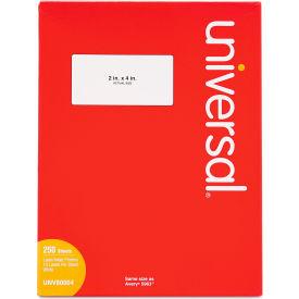 Universal® Laser Printer Permanent Labels, 2 x 4, White, 2500 Labels