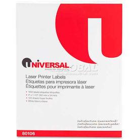 Universal® Laser Printer Permanent Labels, 1-1/3 x 4, White, 1400 Labels