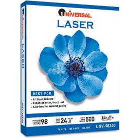 Laser Paper - Universal UNV98240 - White - 8-1/2 x 11 - 24 lb. - 500 Sheets/Ream