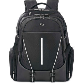 "SOLO® Active Laptop Backpack, 17.3"", 12 1/2 x 6 x 18 3/4, Black"