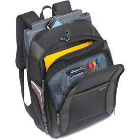 """SOLO® Sterling 16"""" CheckFast Backpack, 13 3/4 x 6 1/2 x 17 3/4, Black"""