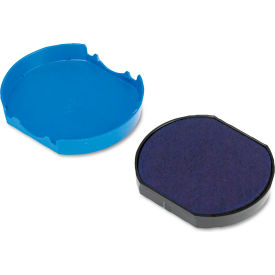 U. S. Stamp & Sign® Trodat T46140 Dater Replacement Pad, 1 5/8, Blue