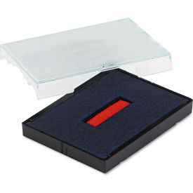 U. S. Stamp & Sign® Trodat T4727 Dater Replacement Pad, 1 5/8 x 2 1/2, Red/Blue
