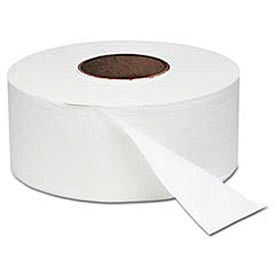 "White Jumbo Roll One-Ply Bath Tissue, 8-3/4"" dia, 2000 ft, 12 Rolls/Case - WNS200"