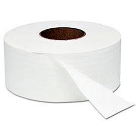 "White Jumbo Roll Bath Tissue, 9"" dia, 1000 ft, 12 Rolls/Carton - WNS202"