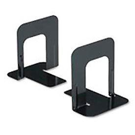 Standard Deluxe Metal Bookends, Nonskid Padded Base, Black Enamel
