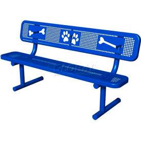 BarkPark Basic Bench Blue by
