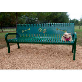 BarkPark Deluxe Bench Green by