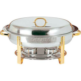 Update International Gold Accented Oval Chafer, 6Qt, DC-3 Package Count 4 by