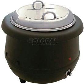 """Update International Electric Soup Warmer, 10-1/2 Qt., 15""""Dia., Aluminum, ESW-10AL"""