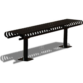 "UltraPlay 72"" Kensington Bench w/o Back, Vertical Slat, Black"