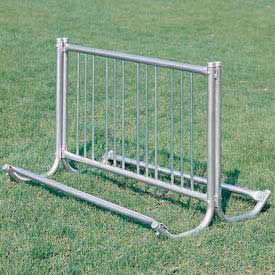 Portable Modern Bike Rack, 10-Bike Capacity, Double Sided, 5' Long