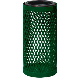 UltraPlay Metal Thermoplastic Coated Ash Urn, Diamond Patterned, Green - EX-12-GRN