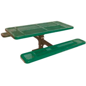 """6' Single Pedestal Table, Surface Mount, Perforated 72""""W x 70""""D - Green"""