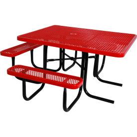 "46"" ADA Square Table, Diamond, Red"