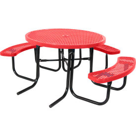 "46"" ADA Round Table, Perforated, Red"