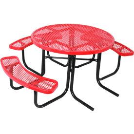 "46"" ADA Round Table, Diamond, Red"