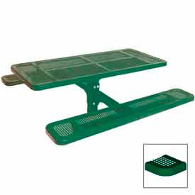 """6' Single Pedestal Table, Inground, Perforated 72""""W x 70""""D - Green"""