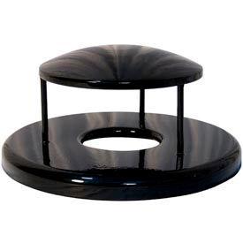 Rain Bonnet Lid for 32 Gallon Trash Receptacles - Black