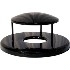 UltraPlay Rain Bonnet Lid For 55 Gallon Trash Receptacles, Blue - RBR-55-08-BLU