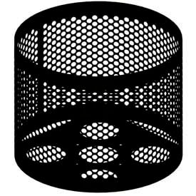 Round UltraCoat Outdoor Planter, Perforated - Black