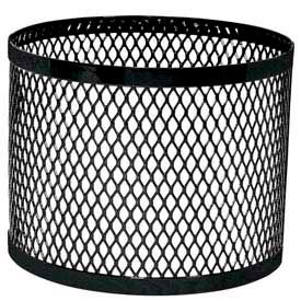 Round UltraCoat Outdoor Planter, Diamond - Black