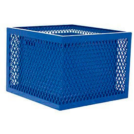 Square UltraCoat Outdoor Planter, Perforated - Blue
