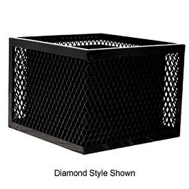 Square UltraCoat Outdoor Planter, Perforated - Black