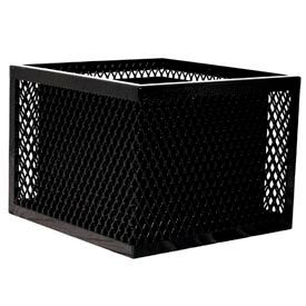 Square UltraCoat Outdoor Planter, Diamond - Black