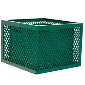 Square UltraCoat Outdoor Planter, Diamond - Green
