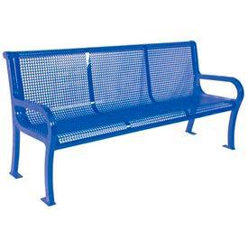 "4' Lexington Bench, Perforated 48""W x 25""D - Blue"