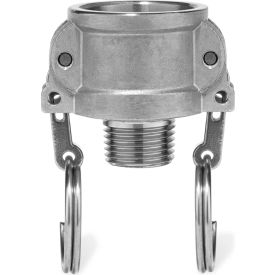 """1-1/2"""" 316 Stainless Steel Type B Coupler with Threaded NPT Male End"""