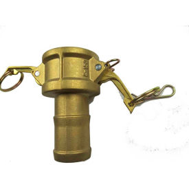 "1"" Brass Type C Coupler with Hose Shank"