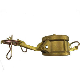 """1"""" Brass Type DC Coupler with Dust Cap"""