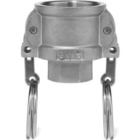 "1/2"" 316 Stainless Steel Type D Coupler with Threaded NPT Female End"