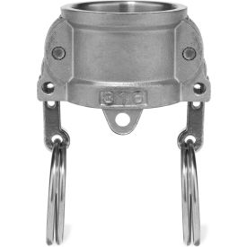 """4"""" 316 Stainless Steel Type DC Coupler with Dust Cap"""