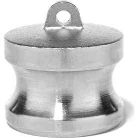 """3"""" 316 Stainless Steel Type DP Adapter with Dust Plug"""