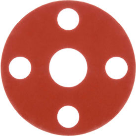"Full Face Silicone Flange Gasket for 3/4"" Pipe-1/16"" Thick - Class 150"