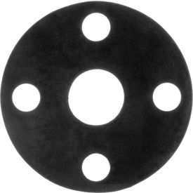 "Full Face Buna-N Flange Gasket for 1-1/2"" Pipe-1/16"" Thick - Class 150"