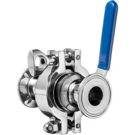 """304 SS Easy to Maintain Sanitary Ball Valve with Clamp Fittings - for 3"""" Tube"""