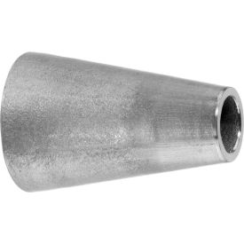 """304 SS Unpolished Straight Reducer, Tube-to Tube for Butt Weld Fittings - for 6"""" x 4"""" Tube OD"""
