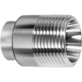 """304 SS Straight Adapter, Tube-to-Male Threaded Pipe for Butt Weld Fittings - for 1"""" Tube OD - Pkg Qty 2"""